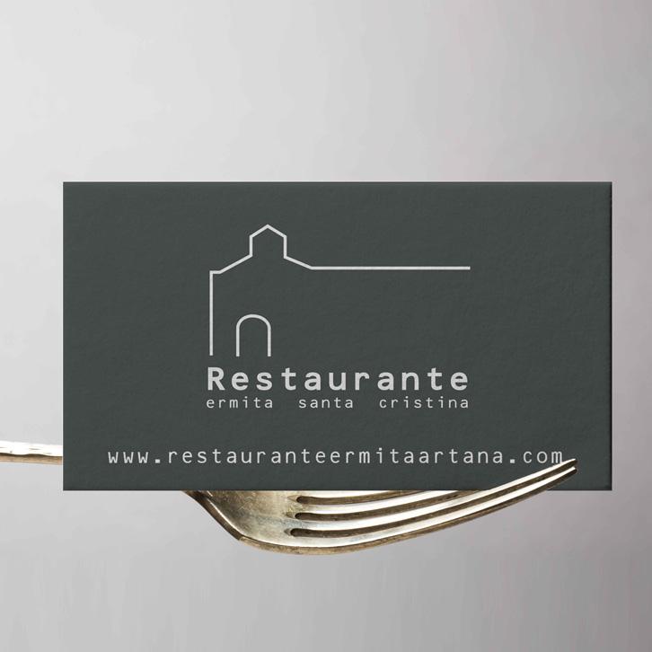Tarjeta de visita restaurante Ermita Santa Cristina