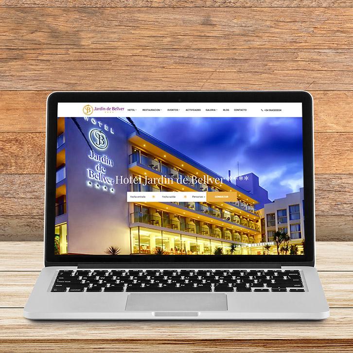 Diseño Web Hotel Jardín de Bellver
