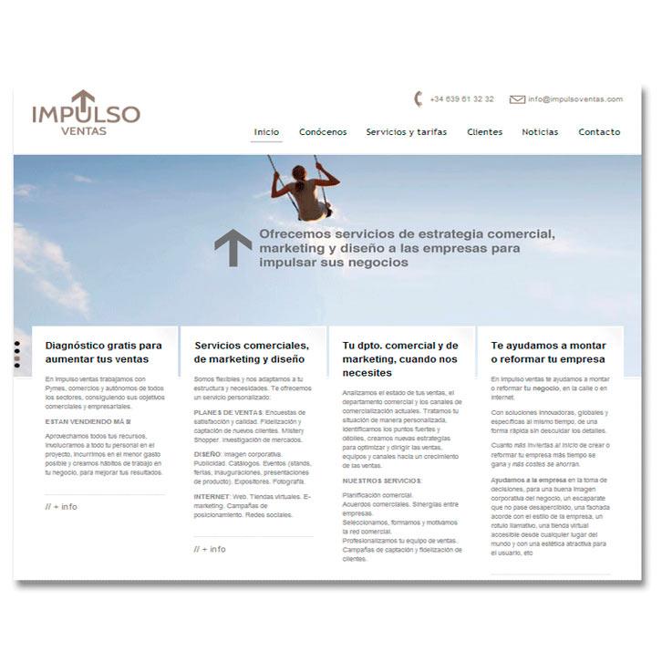 Página Web Impulso Ventas