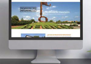 Página web presupuestos participativos Castellón