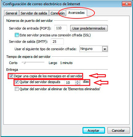 configuracion avanzada outlook 2016 2