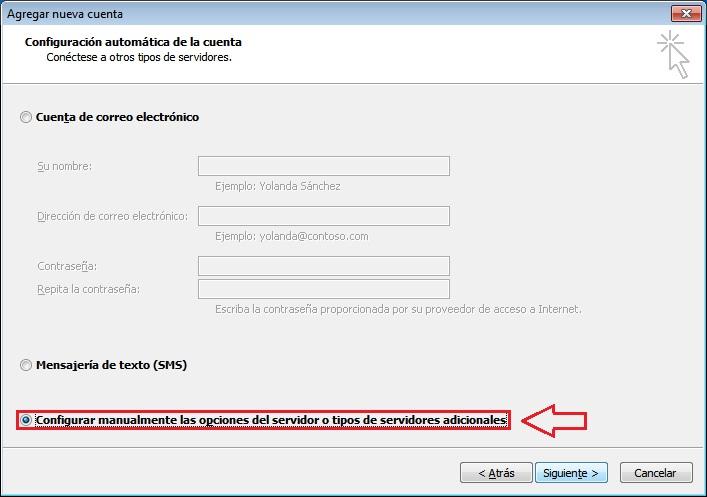Configuración correo Outlook 2010