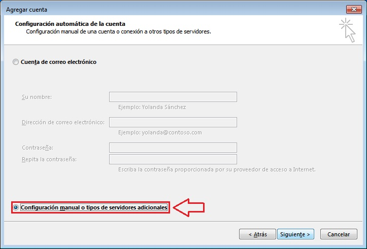configuracion correo outlook 2013