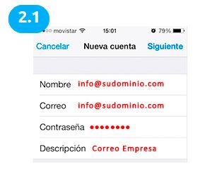 configuracion cuenta correo ios 5