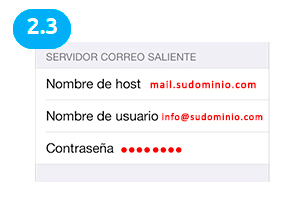 configuracion cuenta correo ios 7
