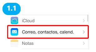 configuracion cuenta correo ios