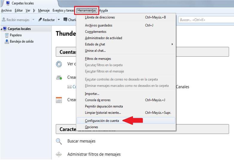 configurar cuenta correo thunderbird 2