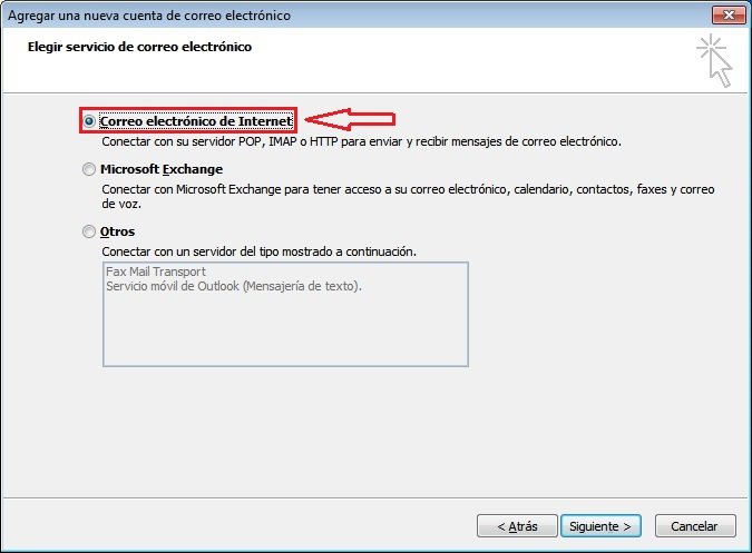 Configurar correo outlook 2007
