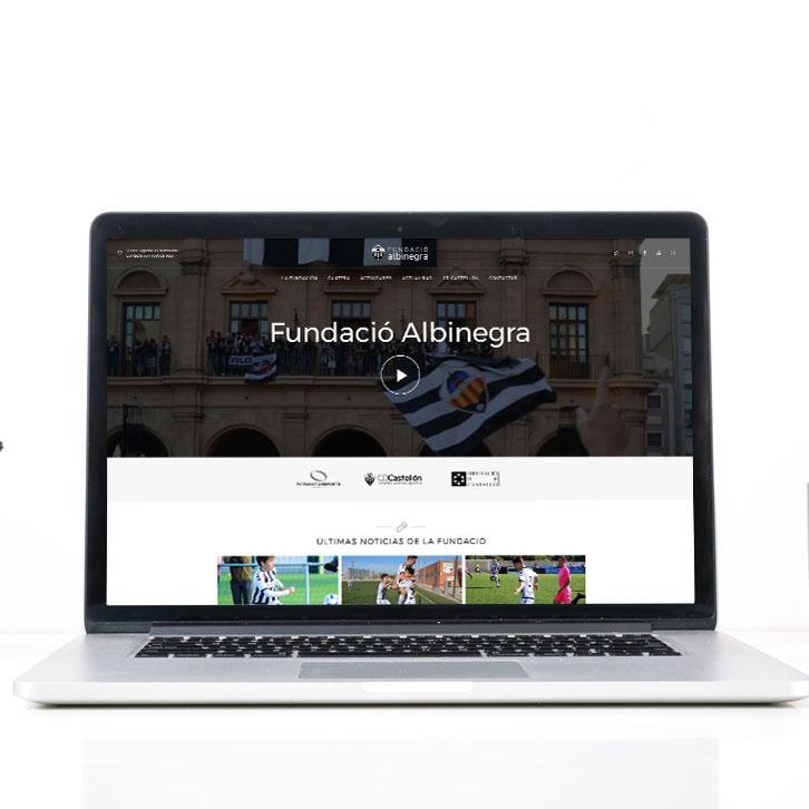 Página web Fundación Albinegra