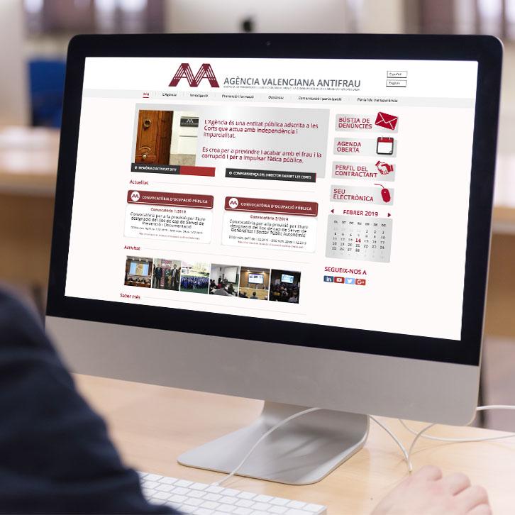 Página web Agencia Valenciana Antifraude