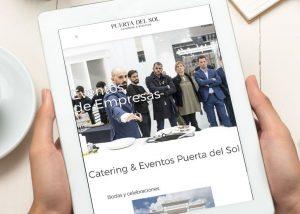 Pagina web catering eventos Puerta del Sol