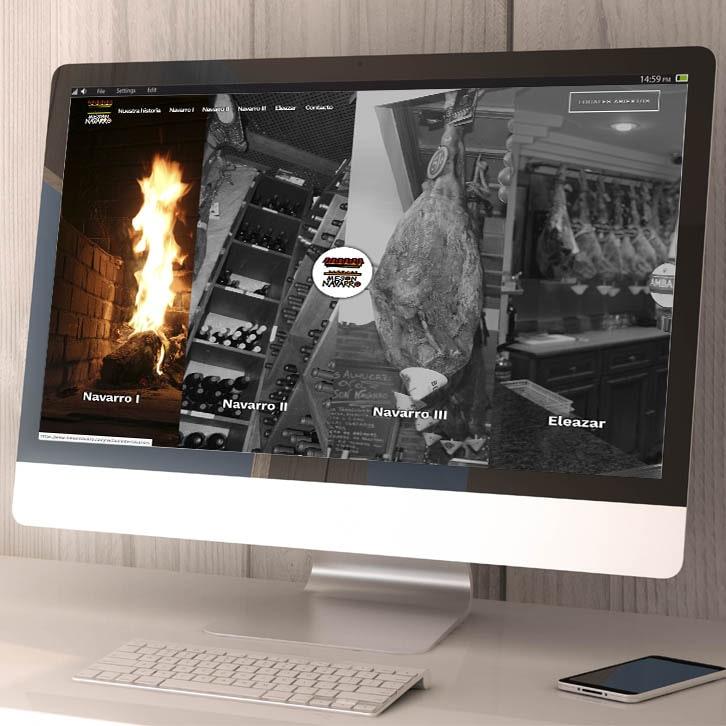 Página web restaurantes Meson Navarro