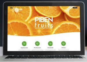 Página web cítricos Piben-Fruits