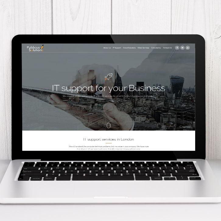 Página web soporte informático Publicus Solutions