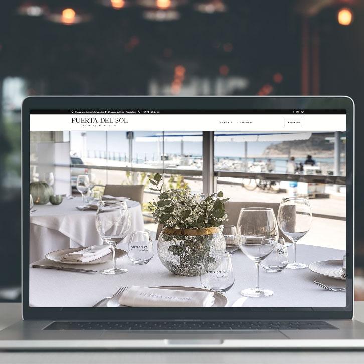 Página web restaurante Puerta del Sol