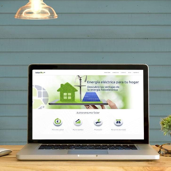 Página web paneles solares Solarcas