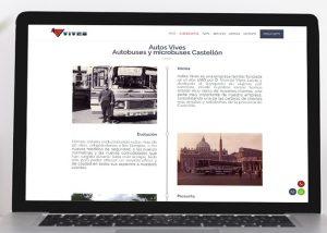 Posicionamiento web página web Autocares Vives