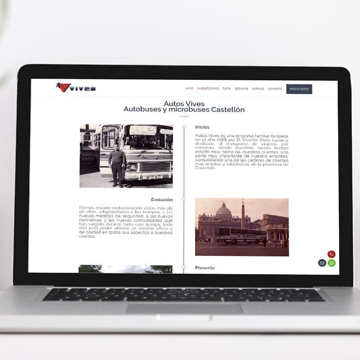 Posicionamiento web y página web Autos Vives