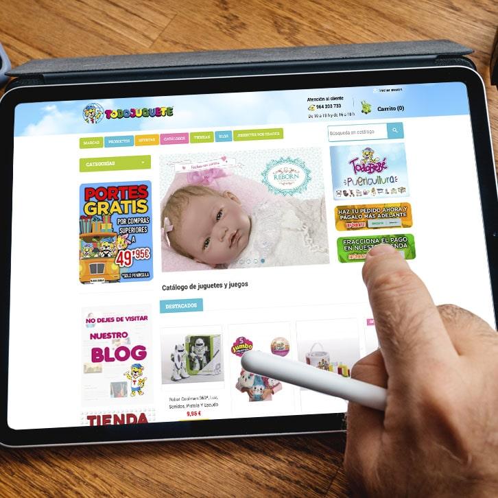 Tienda online y posicionamiento web de jugueteria