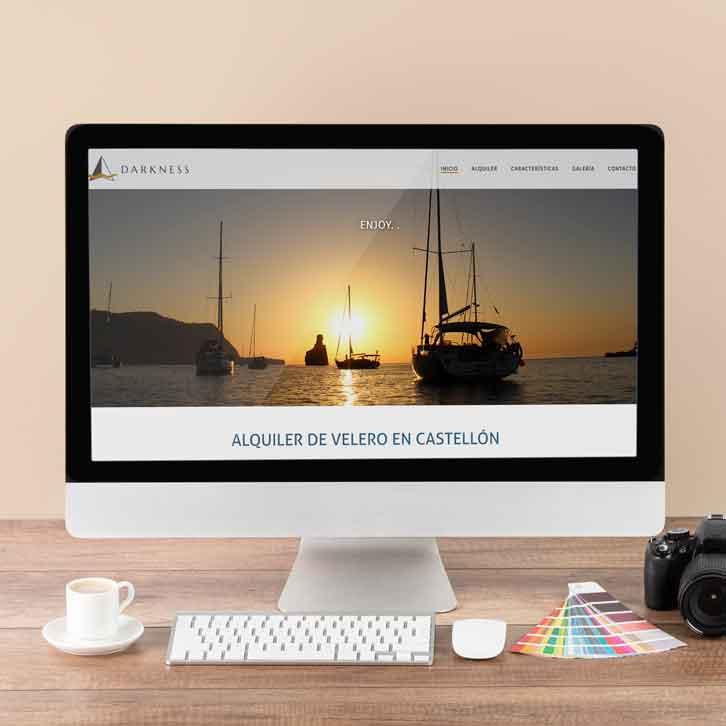 Pagina web de alquiler de velero Darkness