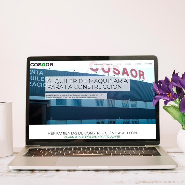 Pagina web maquinaria industrial Cosaor