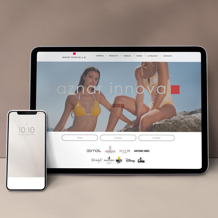Página web de ropa Aznar Innova