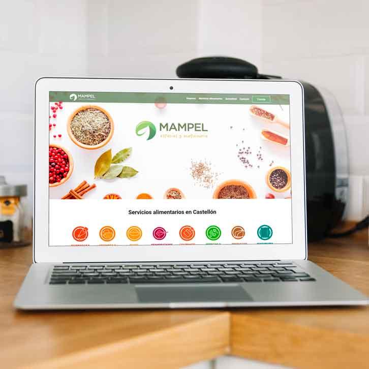 Pagina web de especias y maquinaria Mampel