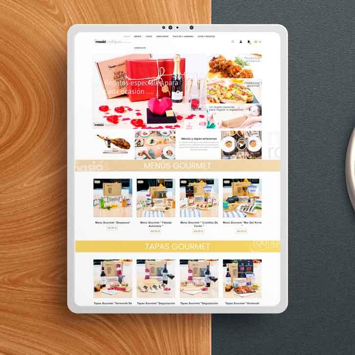 Tienda online menús gourmet Masía Rodriguez