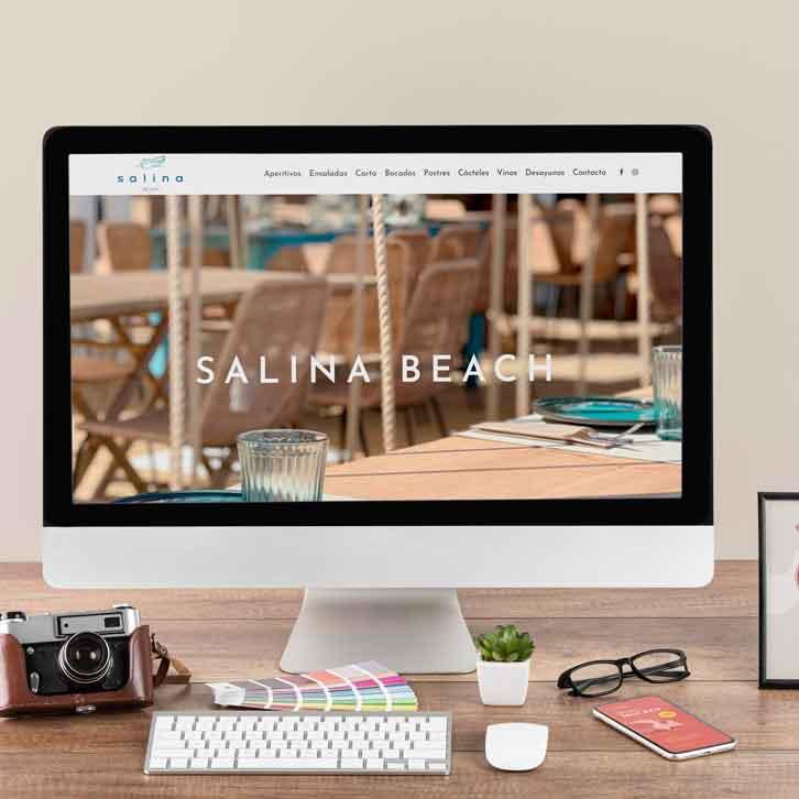 Pagina web para un restaurante Salina Beach